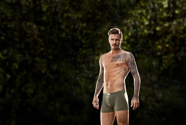 David Beckham appears in a photo for an 2013 H and M underwar ad campaign.