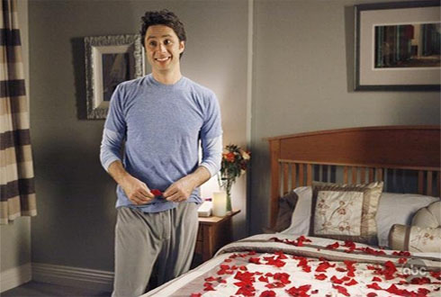 "<div class=""meta ""><span class=""caption-text "">Zach Braff turns 37 on April 6, 2012. The actor is known for shows such as 'Scrubs,' and films such as 'Garden State,' and 'The Last Kiss.'  (ABC Studios/Doozer/Towers Productions)</span></div>"