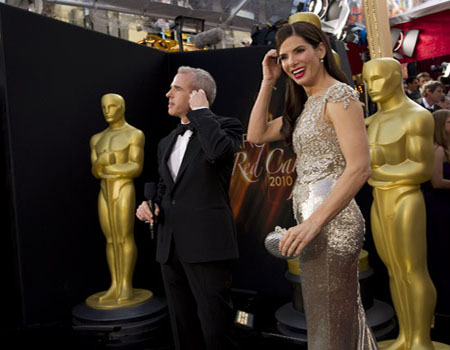 "<div class=""meta ""><span class=""caption-text "">Sandra Bullock, Academy Award nominee for Best Actress for her performance in 'The Blind Side,' arrives at the 82nd Annual Academy Awards at the Kodak Theatre in Hollywood, CA, on Sunday, March 7, 2010. (Richard Harbaugh / ©A.M.P.A.S.)</span></div>"
