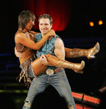 "<div class=""meta ""><span class=""caption-text "">Cheryl Burke and Drew Lachey do their 'Save a Horse Ride a Cowboy' dance on 'Dancing With the Stars' in February 2006. (ABC)</span></div>"
