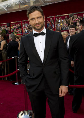 Gerard Butler on the red carpet, 2010.