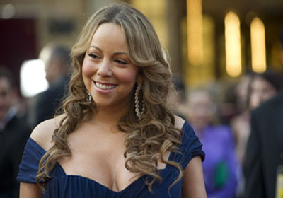 Mariah Carey on the red carpet, 2010.