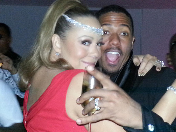 Mariah Carey shared this New Year's Eve photo on...