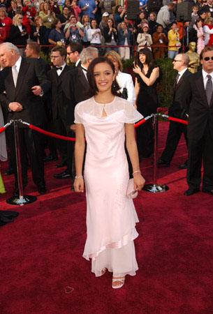 "<div class=""meta ""><span class=""caption-text "">Nominated for Best Actress for her work in 'Whale Rider,' Keisha Castle-Hughes arrives at the 76th Annual Academy Awards at the Kodak Theatre in Hollywood, CA on Sunday, Feb. 29, 2004. (HO/©A.M.P.A.S.)</span></div>"