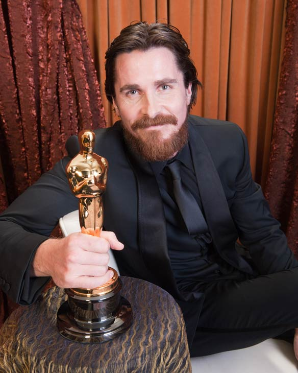 Best Supporting Actor Christian Bale poses...