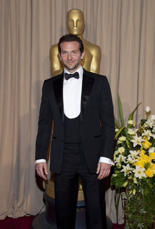 Academy Award presenter Bradley Cooper arrives backstage at the 82nd Annual Academy Awards at the Kodak Theatre in Hollywood, CA, on Sunday, March 7, 2010. <span class=meta>(John Farrell &#47; &#38;copy;A.M.P.A.S.)</span>