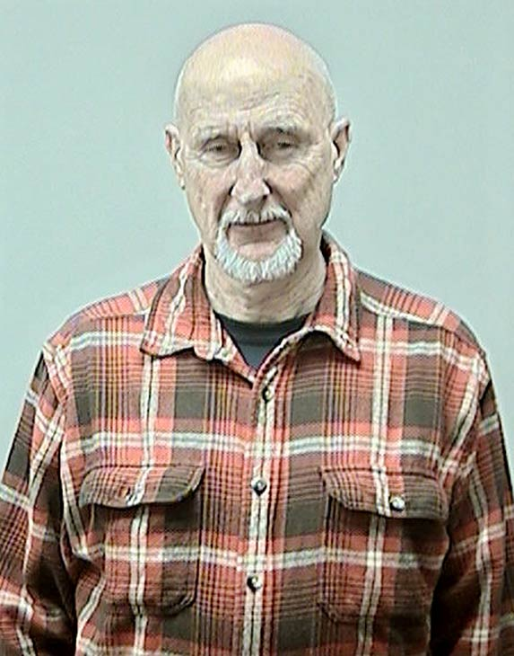 This photo provided by the Dane County Sheriff's Office shows actor James Cromwell after he was arrested on Feb. 7, 2013 for disrupting a University of Wisconsin Board of Regents meeting to carry out a protest against animal testing.