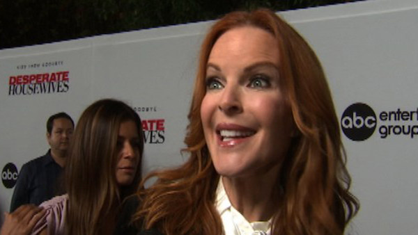 "<div class=""meta image-caption""><div class=""origin-logo origin-image ""><span></span></div><span class=""caption-text"">Marcia Cross turns 50 on March 25, 2012. The actress plays Bree on 'Desperate Housewives' and also starred on the show 'Melrose Place.'  (Pictured: Marcia Cross talks to OnTheRedCarpet.com at a Los Angeles event celebrating the premiere of the eighth and final season of the ABC show 'Desperate Housewives' on Sept. 21, 2011.) (OTRC)</span></div>"