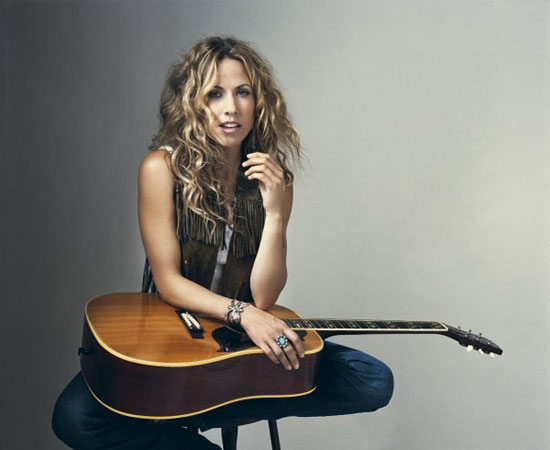 Sheryl Crow appears in a photo posted on her Facebook page.