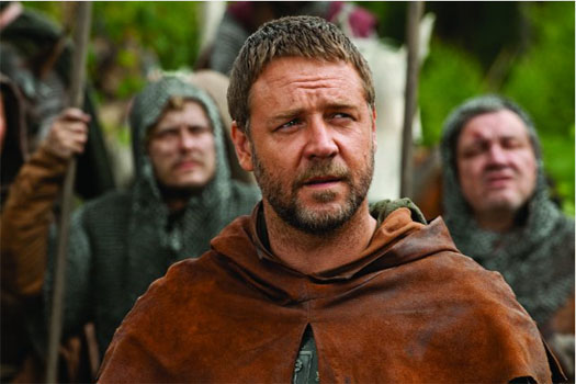 Russell Crowe in a scene from 'Robin Hood.'