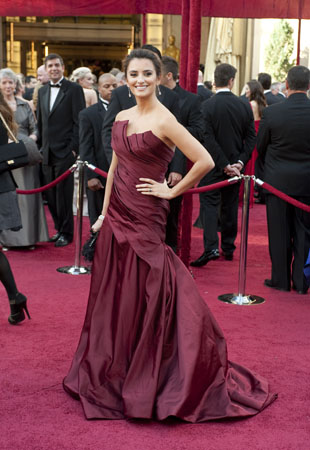 Penelope Cruz on the red carpet, 2010.