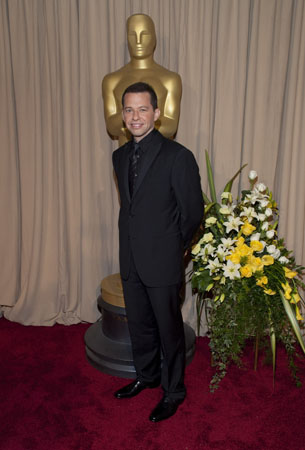 "<div class=""meta ""><span class=""caption-text "">Academy Award presenter Jon Cryer arrives backstage at the 82nd Annual Academy Awards at the Kodak Theatre in Hollywood, CA, on Sunday, March 7, 2010. (John Farrell / ©A.M.P.A.S.)</span></div>"