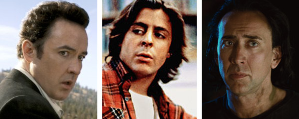 John Cusack (left) appears in a scene from the 2009 movie '2012.' / Judd Nelson (center) appears in a scene from 'The Breakfast Club' /  Nicolas Cage (right) appears in a scene from 'Bangkok Dangerous.'