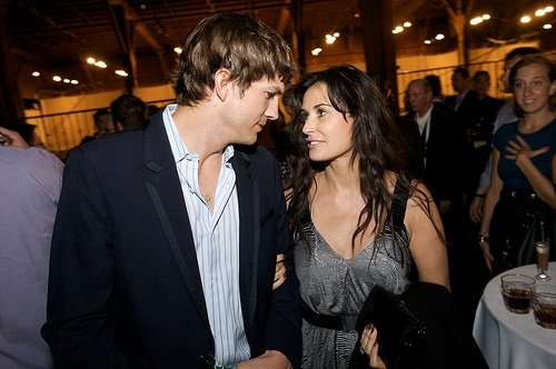 Demi Moore and Ashton Kutcher appear in a photo posted on the actress' Facebook page.