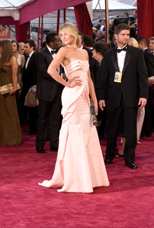 Actress and presenter, Cameron Diaz, arrives at the 80th Annual Academy Awards at the Kodak Theatre in Hollywood, CA, on Sunday, Feb. 24, 2008 in a Dior gown by John Galliano. <span class=meta>(Armando Flores &#47; &copy;A.M.P.A.S.)</span>