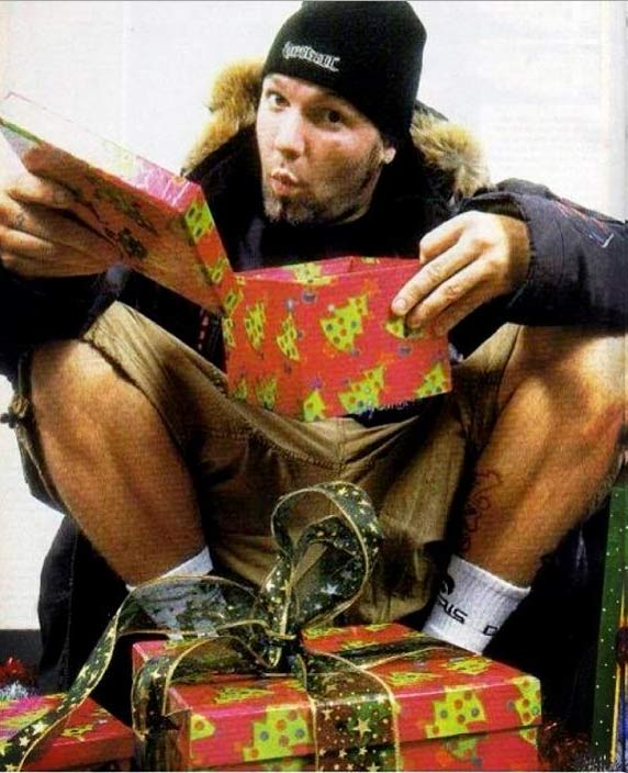 Limp Bizkit rocker Fred Durst shared this photo on Dec. 24, 2012, Tweeting: &#39;Ho. Ho. Ho?&#39; <span class=meta>(twitter.com&#47;freddurst&#47;status&#47;283274351694983168&#47;photo&#47;1)</span>