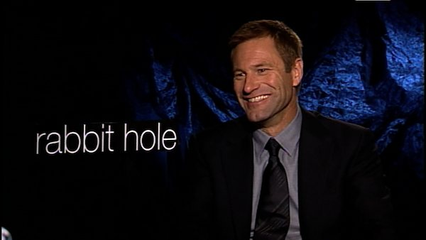 Aaron Eckhart turns 44 on March 12, 2012.  The actor is known for films such as &#39;The Dark Knight,&#39; &#39;Thank You for Smoking&#39; and &#39;Rabbit Hole.&#39;  &#40;Pictured: Aaron Eckhart talks to OnTheRedCarpet.com about the film &#39;Rabbit Hole&#39; in this December 2010 interview.&#41; <span class=meta>(OTRC)</span>