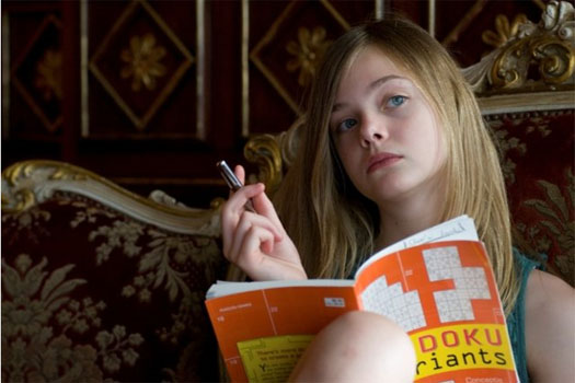 Elle Fanning in a scene from 'Somewhere.'