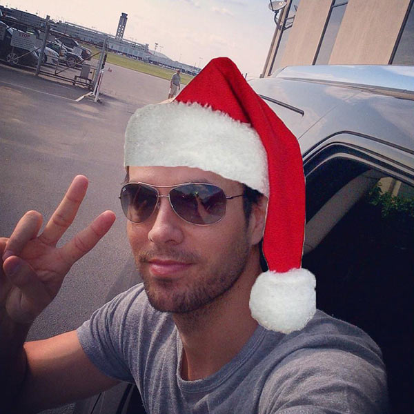 Singer Enrique Iglesias shared this photo on Dec. 25, 2012, saying: '#MerryChristmas and #FelizNavidad to everyone! So thankful for everything this year!'