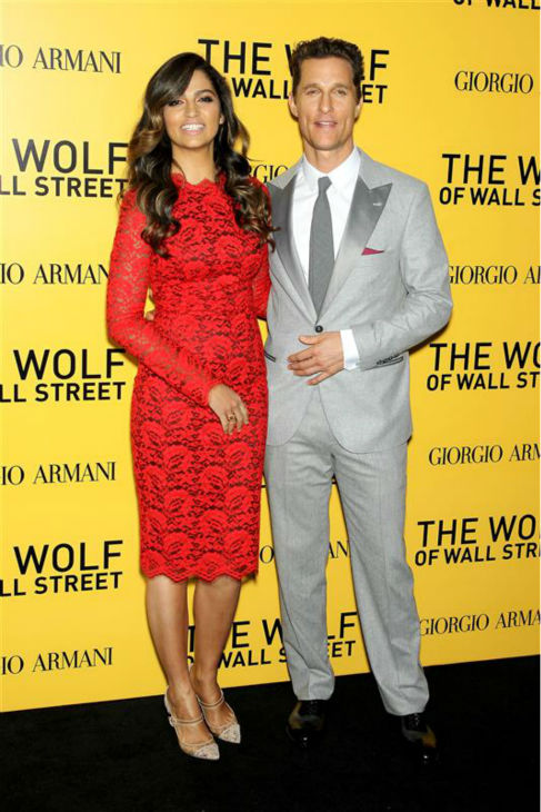 Matthew McConaughey and wife Camila Alves attend the premiere of &#39;The Wolf of Wall Street&#39; in New York on Dec. 17, 2013. <span class=meta>(Dave Allocca &#47; Startraksphoto.com)</span>