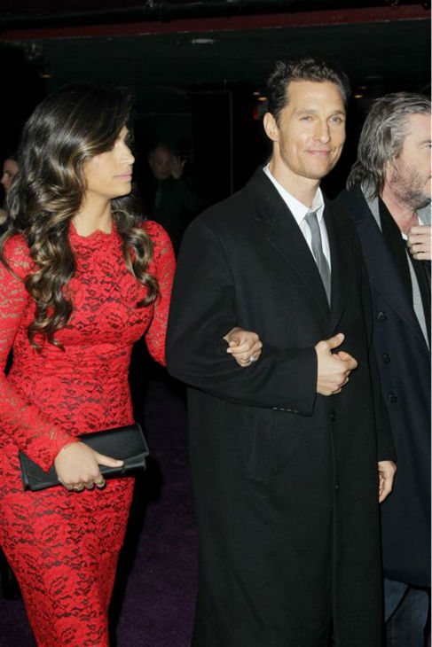 Matthew McConaughey and wife Camila Alves attend an after party following the premiere of &#39;The Wolf of Wall Street&#39; in New York on Dec. 17, 2013. <span class=meta>(Dave Allocca &#47; Startraksphoto.com)</span>