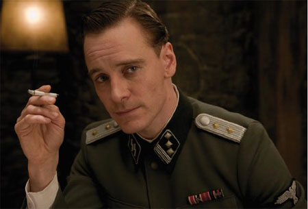 Michael Fassbender in a scene from 'Inglorious...