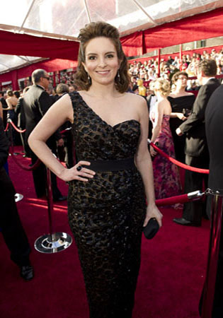 Tina Fey on the red carpet, 2010.
