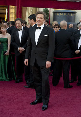 Colin Firth on the red carpet, 2010.