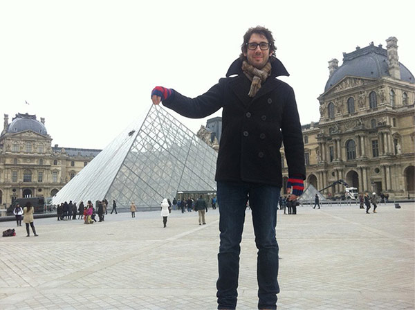 Josh Groban appears in Paris, as seen in a photo posted on his Twitter page on Feb. 26, 2013.