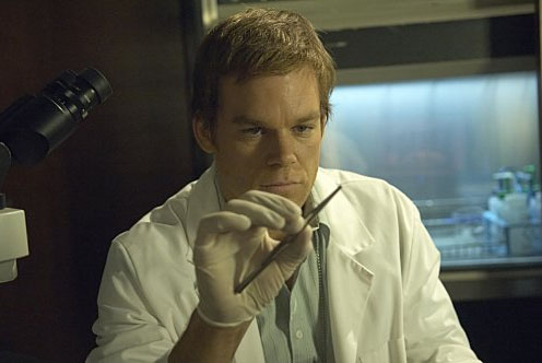 Michael C. Hall turns 40 on Feb. 1, 2011. (Pictured: Michael C. Hall in a scene from 'Dexter.)