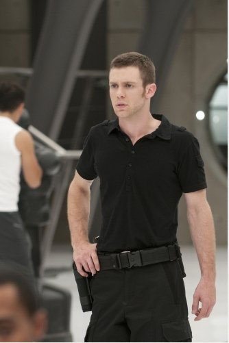 Bug Hall in a scene from the hit CW show 'Nikita.'