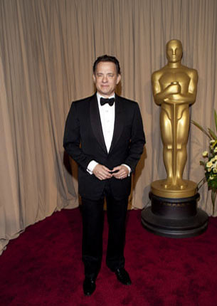 Tom Hanks on the red carpet, 2010.