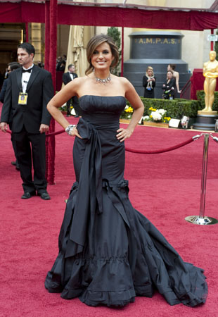 Mariska Hargitay on the red carpet, 2010.
