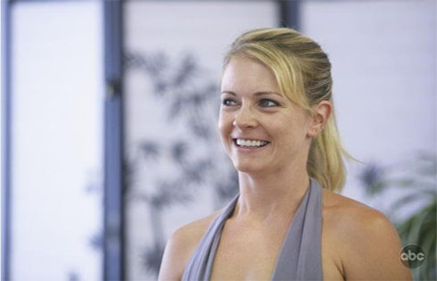 Melissa Joan Hart practicing for her performance...