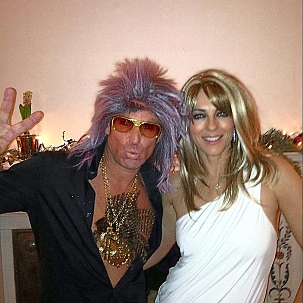 Elizabeth Hurley posted this photo on Twitter on Dec. 31, 2012.