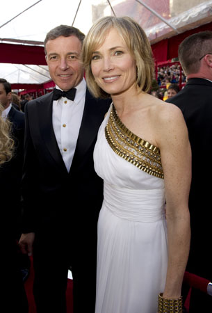 Bob Iger and Willow Bay on the red carpet, 2010.