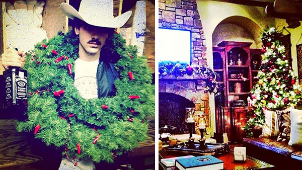 Joe Jonas shared these Instagram photos on Dec. 23, 2012, Tweeting: 'Football and apple cider' and 'Merry Christmas ya'll.'