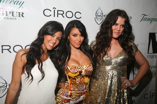 Khloe, Kim and Kourtney Kardashian appear in a Facebook photo in 2010.