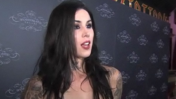 Kat Von D speaks to OnTheRedCarpet.com in...