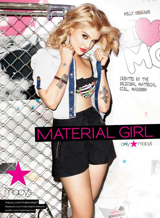 Kelly Osbourne appears in a 2011 promotional photo taken for the Spring 2011 ad campaign of Material Girl apparel, available at Macy&#39;s stores. <span class=meta>(Material Girl&#47;Brooke Nipar)</span>