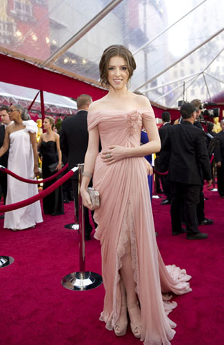 Anna Kendrick, Academy Award nominee for Best Supporting Actress for her work in &#39;Up in the Air,&#39; arrives at the 82nd Annual Academy Awards at the Kodak Theatre in Hollywood, CA, on Sunday, March 7, 2010. <span class=meta>(Richard Harbaugh &#47; &#38;copy;A.M.P.A.S.)</span>