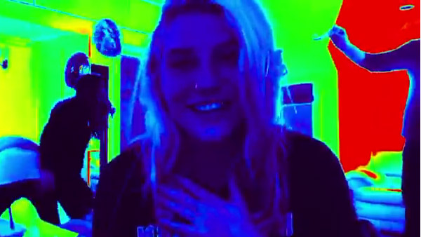 Ke$ha appears in a video she posted on her 25th...