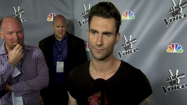 Adam Levine, a mentor on the NBC show &#39;The Voice,&#39; turns 33 on March 18, 2012.  The musician is the lead guitarist and singer for pop-rock band Maroon 5, although he has also collaborated with artists such as Alicia Keys and Kanye West.  &#40;Pictured: Adam Levine talks to OnTheRedCarpet.com at the season 1 finale of &#39;The Voice&#39; in June 2011.&#41; <span class=meta>(OTRC)</span>