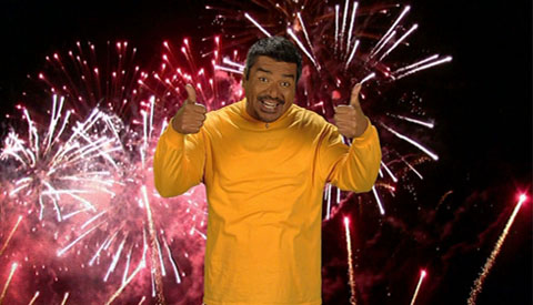 George Lopez turns 51 on April 23, 2012. The comedian is known for shows such as &#39;George Lopez,&#39; &#39;Lopez Tonight&#39; and films such as &#39;Balls of Fury,&#39; and &#39;The Adventures of Sharkboy and Lavagirl.&#39; &#40;Pictured: George Lopez pokes fun of Derek Fisher&#39;s eCard by making a little celebrity eCard of his own on his former talk show, &#39;Lopez Tonight.&#39;&#41; <span class=meta>(TBS&#47;2.2 Productions)</span>