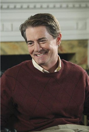 "<div class=""meta ""><span class=""caption-text "">Kyle MacLachlan turns 54 on Feb. 22, 2013. The actor is known for shows such as 'Desperate Housewives,' 'In Justice,' 'Sex and the City' and 'Twin Peaks.' (Pictured: Kyle MacLachlan in a scene from 'Desperate Housewives.') (ABC)</span></div>"