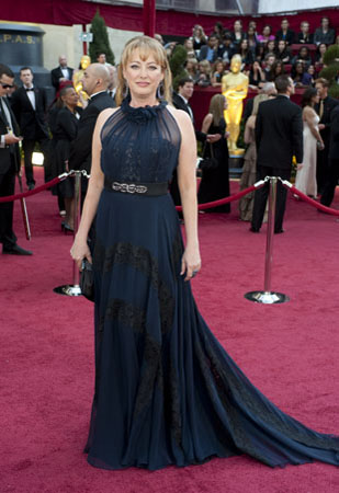 "<div class=""meta ""><span class=""caption-text "">Actress Virginia Madsen arrives at the 82nd Annual Academy Awards at the Kodak Theatre in Hollywood, CA, on Sunday, March 7, 2010. (Matt Petit / ©A.M.P.A.S.)</span></div>"