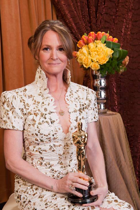 Best Supporting Actress Melissa Leo poses...