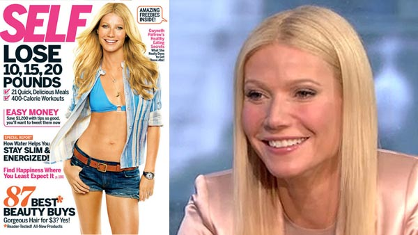 Gwyneth Paltrow appears on the cover of 'Self' magazine's May 2011 issue. / Gwyneth Paltrow appears on ABC morning show 'Good Morning America' on Wednesday, April 13, 2011.