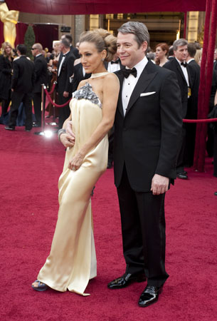 Sarah Jessica Parker and Matthew Broderick on the red carpet, 2010.