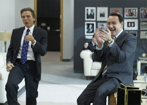 Barry Pepper (left) and co-star, Kevin Spacey (right), in a scene from 'Casino Jack.'